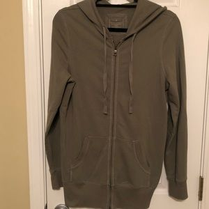 Banana Republic long full zip hoodie
